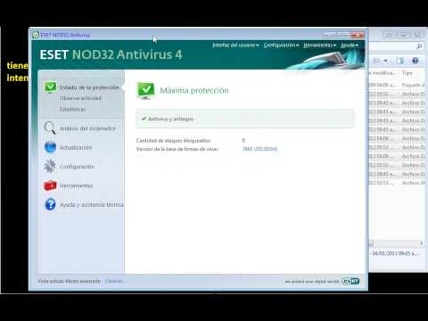 actualizacion manual de NOD antivirus version 4