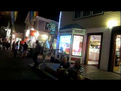 Walking Tour of Provincetown Massachusetts at night