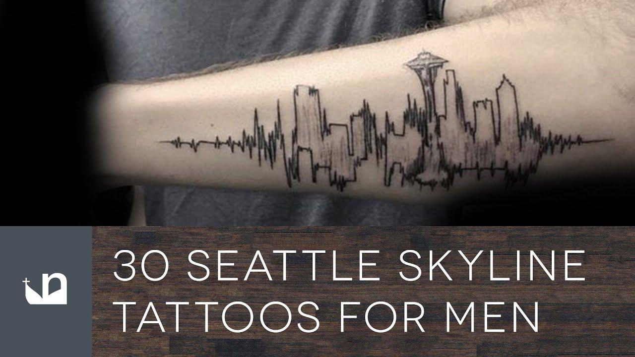 30 Seattle Skyline Tattoos For Men