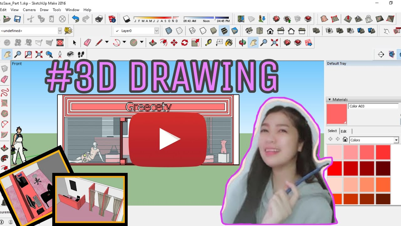 Instant Architect through Sketchup | Part 1 How to make 3D Drawing 2/3