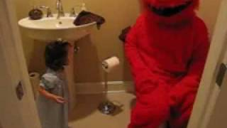 Elmo Pooping on the Potty