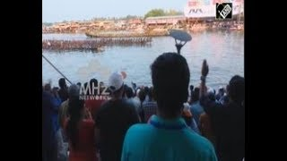 India News - Famous snake boat race draws thousands to India's Kerala province