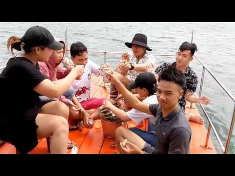 Review Đi Câu Cá, Tôm, Mực Làm mồi Nhậu Trên Biển Phú Quốc