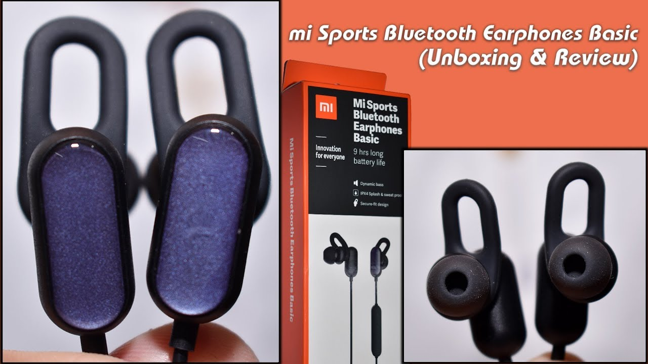 Mi Sports Bluetooth Earphones Basic Unboxing Review Youtube