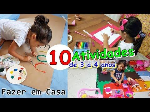 10 DICAS de ATIVIDADES para CRIANÇAS DE 3 A 4 ANOS - Fazer em CASA
