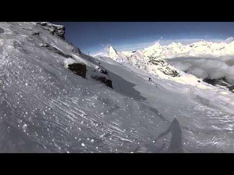 Zermatt - Long Run off Stockhorn Summit with Matterhorn views