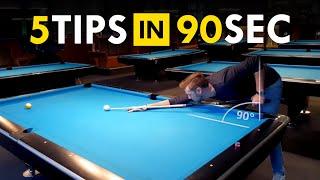 5 Pool Tips iฑ 90 SECONDS