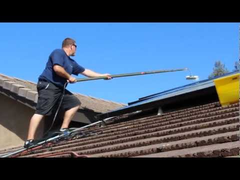 How to Clean Solar Panels by Blue Diamond Window Cleaning and Pressure Washing