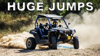 RZR S 800 EXTREME TRAIL DRIVING - DRIFTING AND HUGE JUMPS