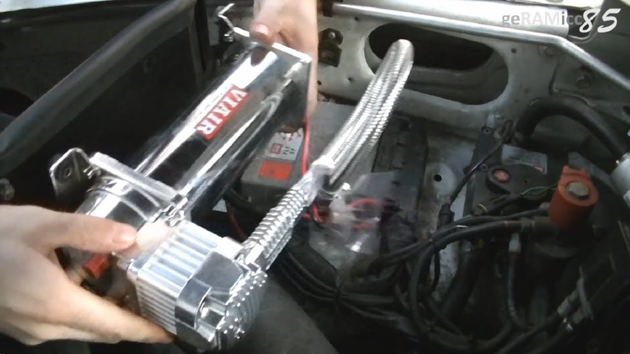 How To Install Onboard Air Compressor Wiring Mounting Viair 444c 2010 4runner Intake Diagrams Source Kit System In Dodge Ram Youtube