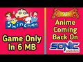 [6 MB] Download Shinchan Game For Android And PC FREE || Anime Is Coming Back On Sonic Nicklodean