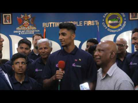 San Fernando City Corporation Welcome Cricketers from Toronto, Canada - July 07, 2017