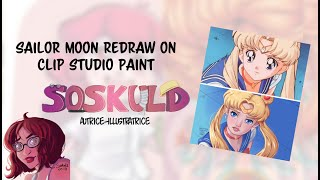 Sailor Moon Redraw Challenge Timelapse on Clip Studio Paint