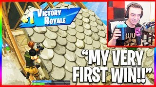 Very First Win in Fortnite... (Funny Random Duos)