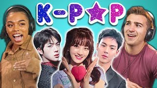 college kids react to k pop bts monsta x seventeen twice red velvet