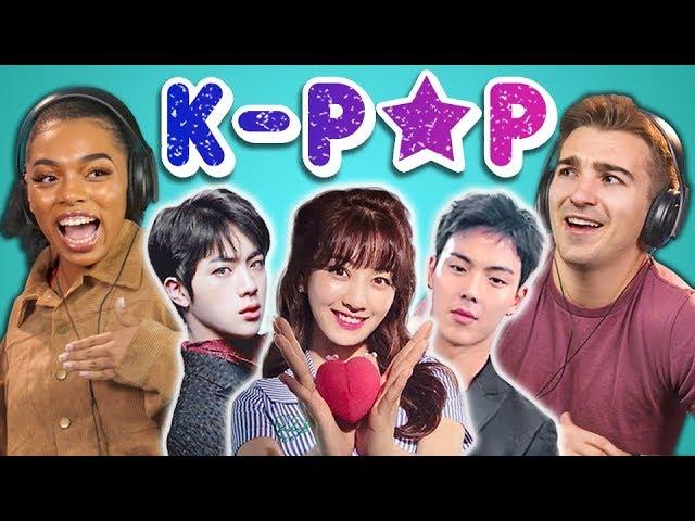 College Kids React To K Pop Bts Monsta X Seventeen Twice Red Velvet