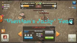 Combo Bowler Attack TH11 (L194-5200 vs L141-3234) [VietNam's Jacky] Clash Of Clans