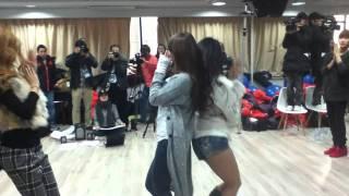 K-pop World Festival Sistar dance ( Filming the show with KBS )