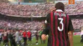 Download AC Milan 2 3 AS Roma + Maldini's end of the match clip HQ 2009 Mp3 and Videos