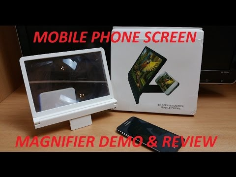 MOBILE PHONE SCREEN ENLARGER ( MAGNIFIER ) UNBOXING / REVIEW HD