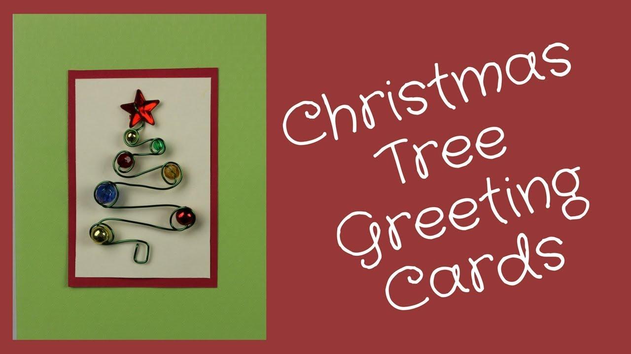 Diy holiday card christmas tree tutorial youtube diy holiday card christmas tree tutorial kristyandbryce Choice Image