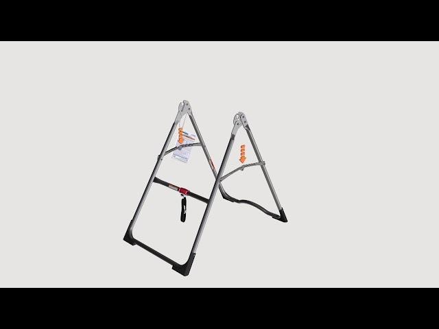 Assemblez A-Frame de base & Stretch Assist Poignées (modèles X1)