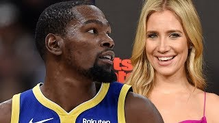 Kevin Durant Shoots His Shot At FS1 Host Kristine Leahy!