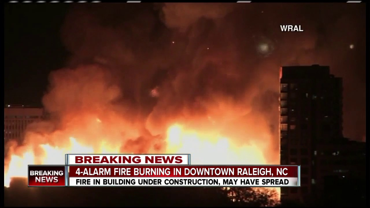 4 Alarm Fire In Raleigh Nc