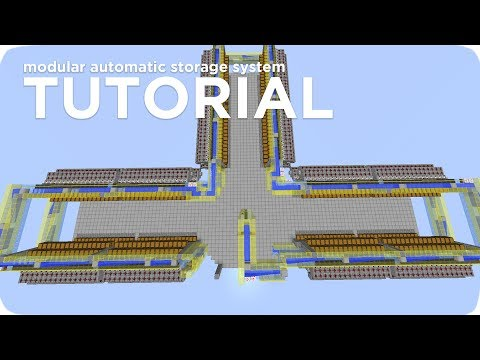 Minecraft Tutorial: Automatic Storage System | Modular, Expa