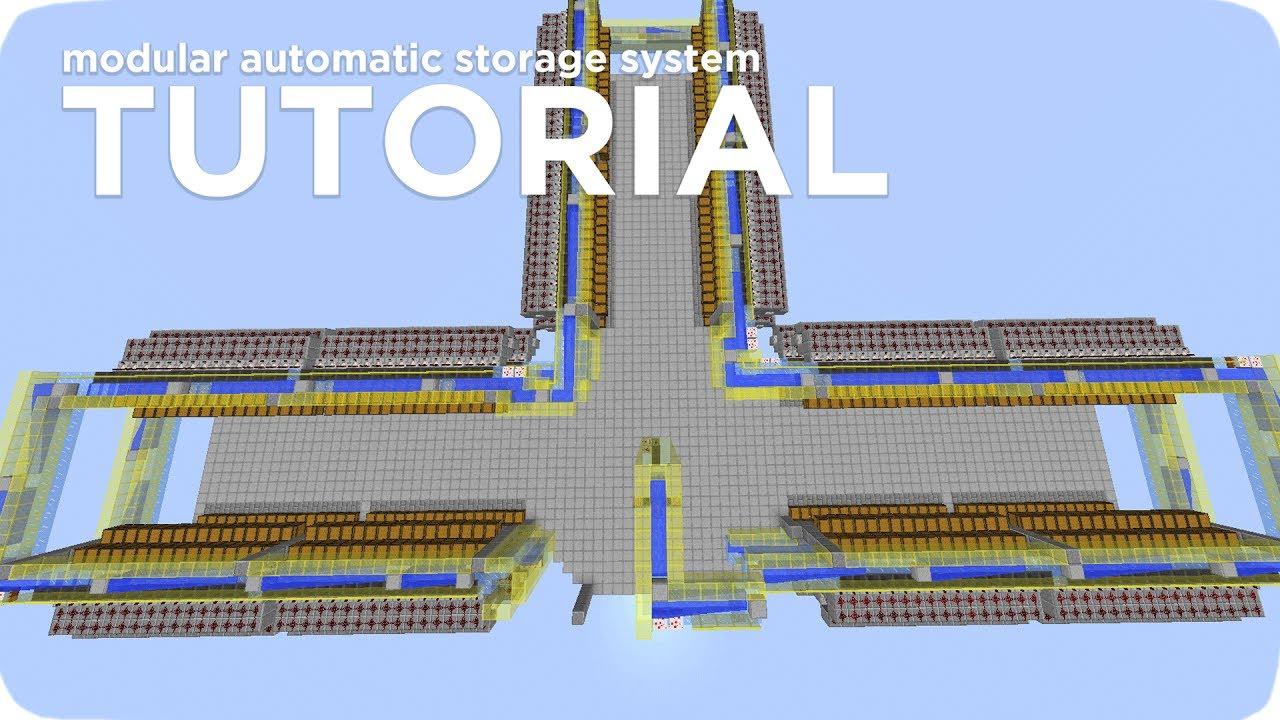 Minecraft Tutorial Automatic Storage System Modular