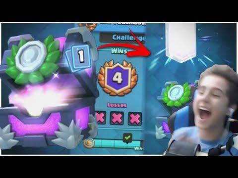 4 WIN-URI = LEGENDARA ! Legendara din Tournament Chest ! | Clash Royale