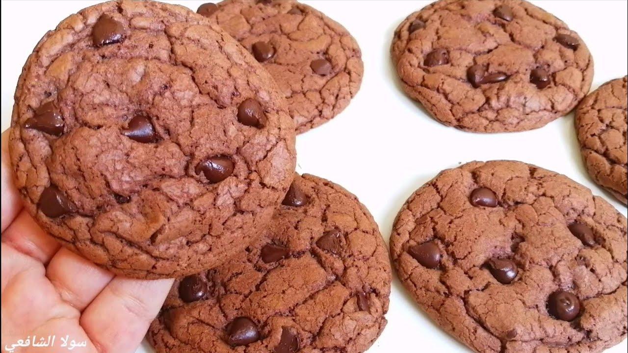 كوكيز الشوكولاته الفاخر ب ٣مكونات بس وفي ١٠ دقايق!! حقيقي هتنبهروا بالوصفة دي 🔝👌