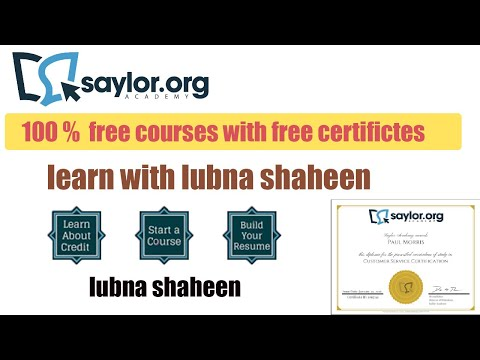 100 % Free Online Courses On Saylor Academy With Free Certificate In 2020 || Lubna Shaheen ||