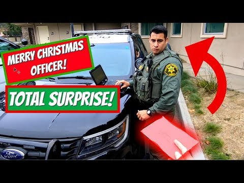 Surprising Police Officers For Christmas!