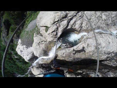Ferrata Kandersteg - Allmenalp, primer tramo hasta puente Nepalí 25 metros