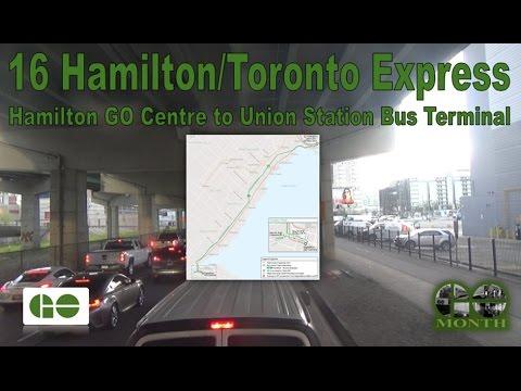 "16 Hamilton/Toronto Exp. - GO Transit 2016 ADL Enviro500 ""SuperLo"" 8303 (Hamilton Ctr to Union Stn)"