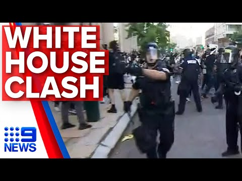 Washington protests: Demonstrations escalate on Trump's doorstep | Nine News Australia
