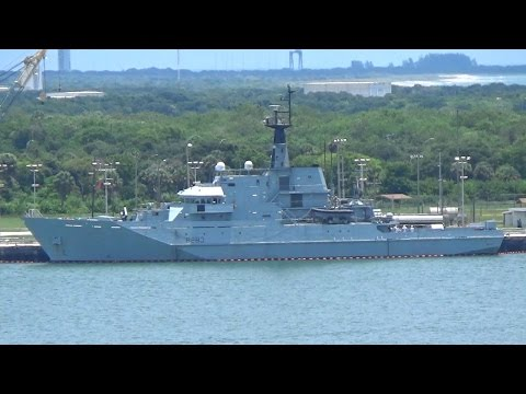 Royal Navy HMS Mersey River Class Patrol Vessel Port Canaveral
