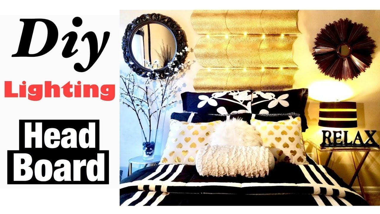 DIY Room Decor Wall Art HeadBoard Using Dollar Store Items!!!! - YouTube