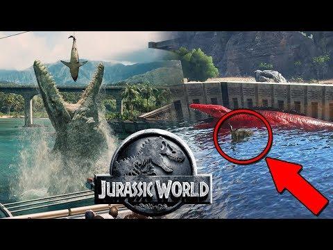 MOSASAURUS DE JURASSIC WORLD! NUEVO SHOW! RECINTO DE MOSASAURUS! JURASSIC WORLD ARK PARK!!