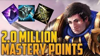 SILVER Garen 2,000,000 MASTERY POINTS- Spectate 2nd Highest Mastery Points on Garen