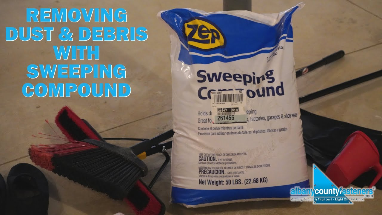 Sweeping Compounds Cleaning Dust Debris Off Concrete Diy Home Improvement