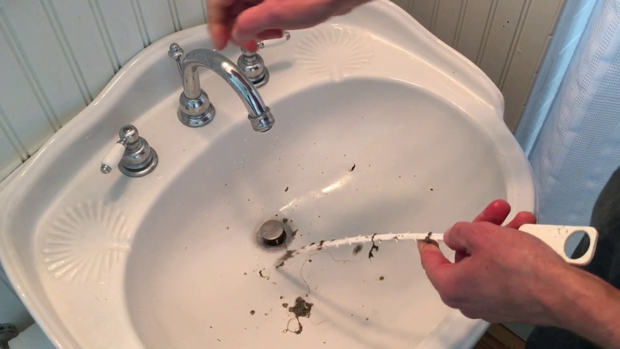 An easy way to unclog a sink or shower drain  Zip It Drain Cleaner Review  YouTube