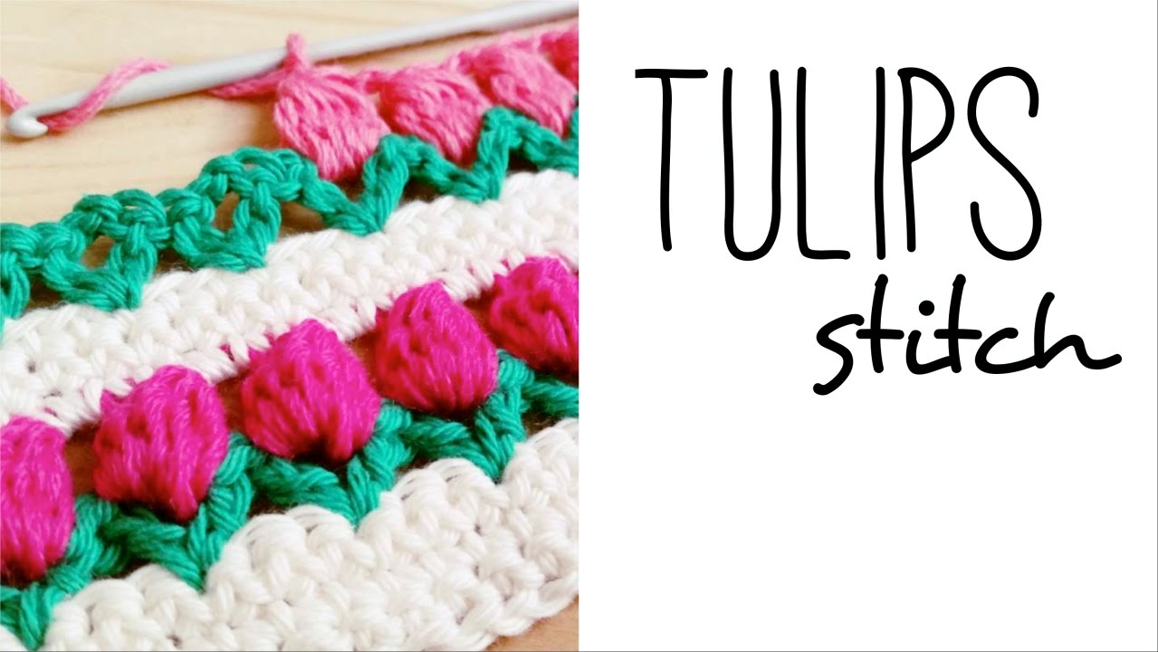How to crochet TULIP STITCH ♥ CROCHET LOVERS - YouTube