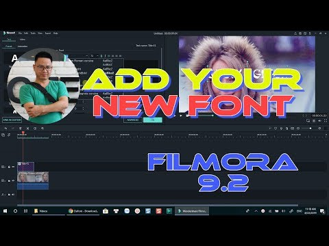 How to Add Custom Fonts In Filmora 9