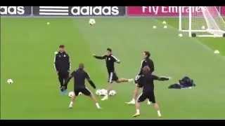 Cristiano Ronaldo And Luka Modric skill show at Real Madrid Training 5/11/2014