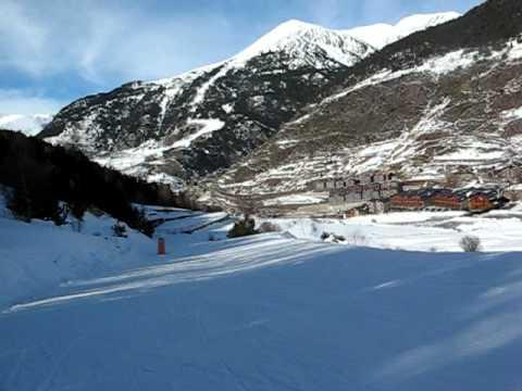 Grandvalira - descenso hacia Canillo