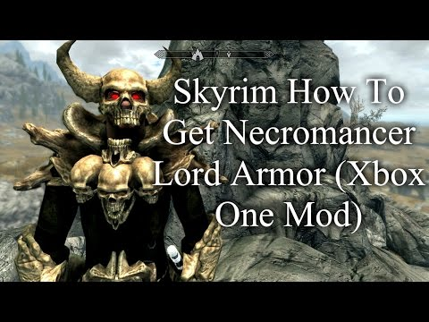 Skyrim How To Get Necromancer Lord Armor Xbox One Mod Youtube