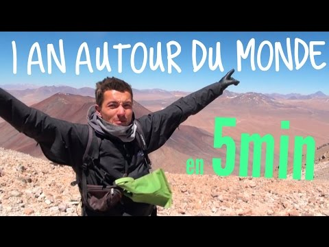 1 an autour du monde en 5min / 1 year around the world in 5 min Vidéo Touristique