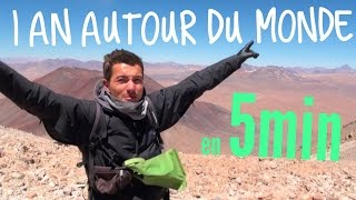 1 an autour du monde en 5min / 1 year around the world in 5 min TRAVEL_VIDEO